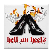 Hell on Heels Tile Coaster