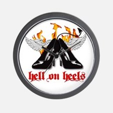 Hell on Heels Wall Clock