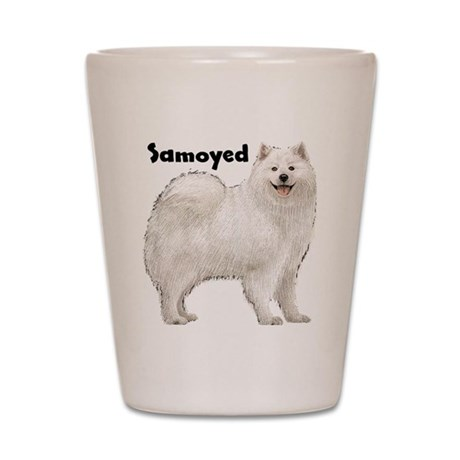 Samoyed Shot Glass