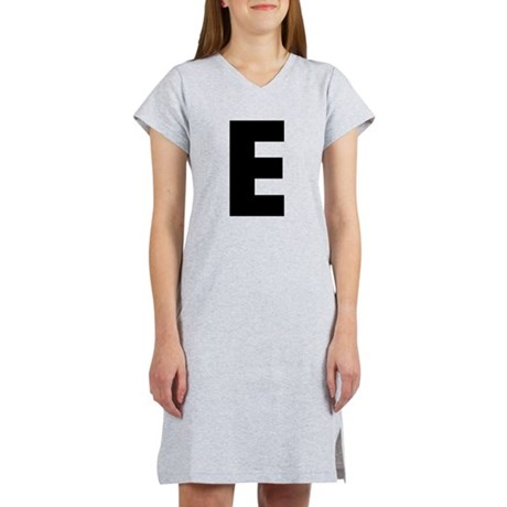 Letter E Women's Nightshirt