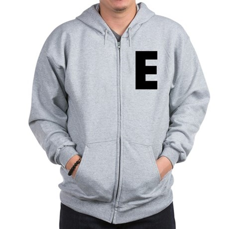Letter E Zip Hoodie