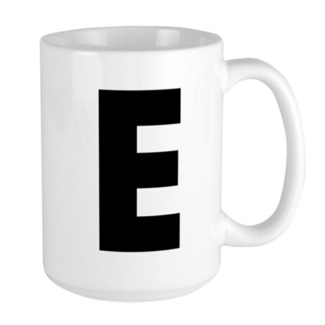 Letter E Large Mug