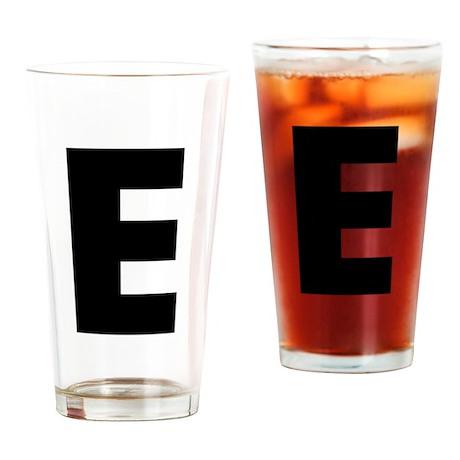 Letter E Drinking Glass