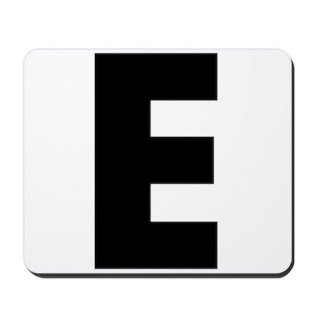 Letter E Mousepad