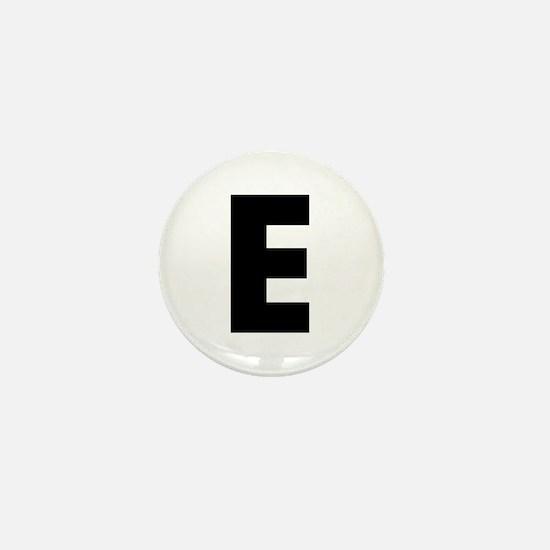 Letter E Mini Button