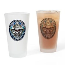 USN Damage Controlman Skull D Drinking Glass