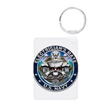 USN Electricians Mate Skull E Keychains