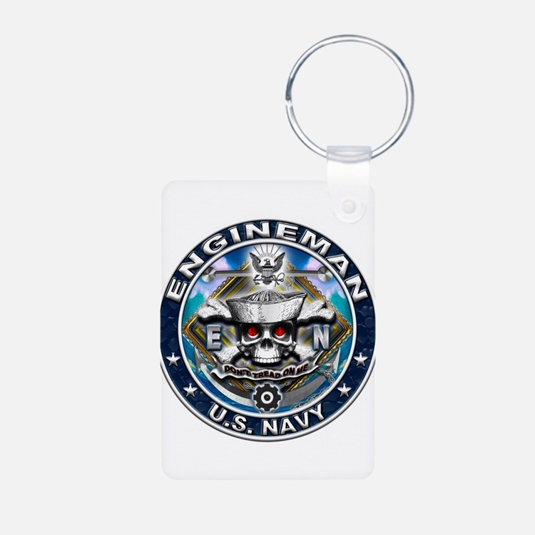 USN Engineman Skull EN Blue Keychains