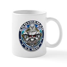 USN Engineman Skull EN Blue Mug