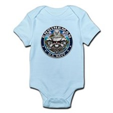 USN Engineman Skull EN Blue Infant Bodysuit