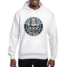 USN Engineman Skull EN Blue Hoodie