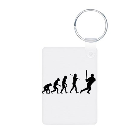 Evolve - Baseball Aluminum Photo Keychain