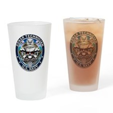 USN Sonar Technician Skull ST Drinking Glass