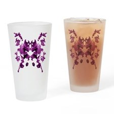 Rorschach Inkblot Drinking Glass