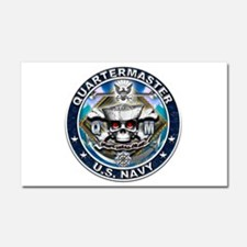 USN Quartermaster Skull QM Bl Car Magnet 20 x 12