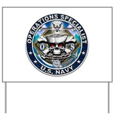 USN Operations Specialist Sku Yard Sign