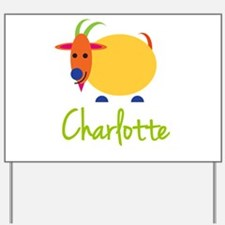 Charlotte The Capricorn Goat Yard Sign