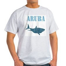 Retro Aruba Shark Ash Grey T-Shirt