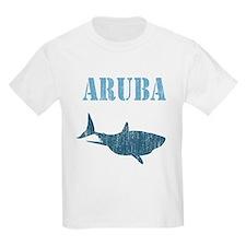 Retro Aruba Shark Kids T-Shirt