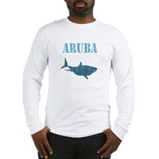 Retro Aruba Shark Long Sleeve T-Shirt