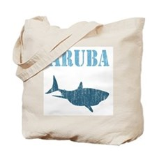 Retro Aruba Shark Tote Bag