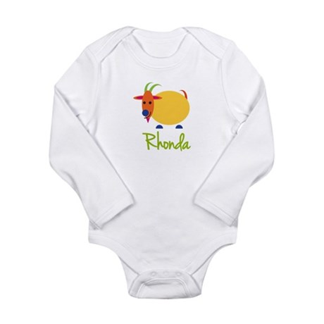 Rhonda The Capricorn Goat Long Sleeve Infant Bodys