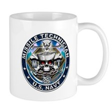 USN Missile Technician Skull Mug