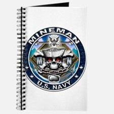 USN Mineman Skull MN Blue Journal