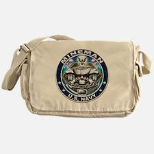 USN Mineman Skull MN Blue Messenger Bag