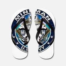 USN Mineman Skull MN Blue Flip Flops