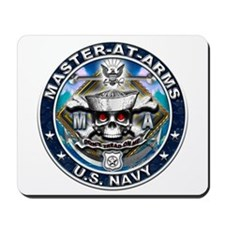 USN Master-At-Arms Skull MA B Mousepad