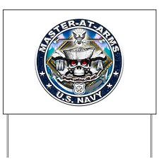 USN Master-At-Arms Skull MA B Yard Sign
