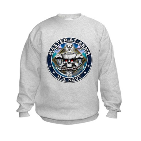 USN Master-At-Arms Skull MA B Kids Sweatshirt