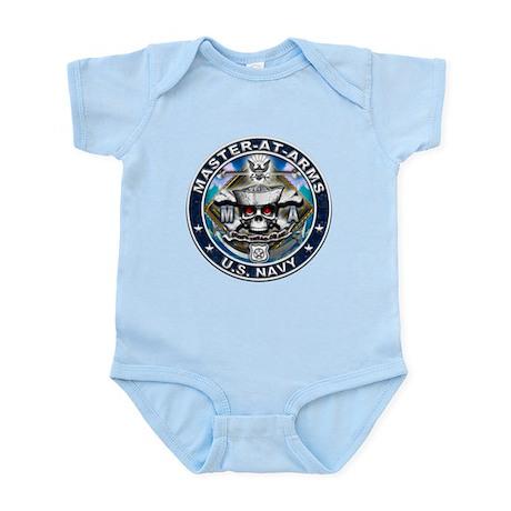 USN Master-At-Arms Skull MA B Infant Bodysuit