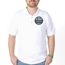 USN Master-At-Arms Skull MA B T-Shirt