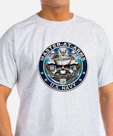 USN Master-At-Arms Skull MA B T-Shirt