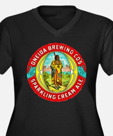 New York Beer Label 1 Women's Plus Size V-Neck Dar