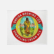 New York Beer Label 1 Throw Blanket