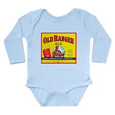 Romania Beer Label 2 Long Sleeve Infant Bodysuit