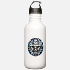 USN Logistics Specialist Skul Water Bottle