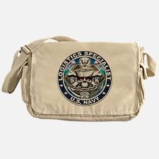 USN Logistics Specialist Skul Messenger Bag