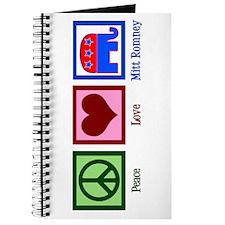 Peace Love Mitt Romney Journal