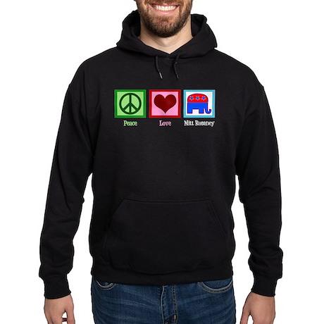 Peace Love Mitt Romney Hoodie (dark)