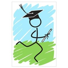 Graduate Runner Grass Framed Print