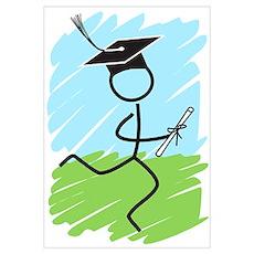 Graduate Runner Grass Poster