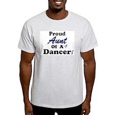 Aunt of 4 Dancers Ash Grey T-Shirt