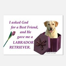 Labrador Retriever (Yellow) Postcards (Package of