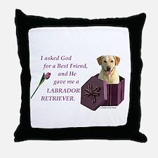 Labrador Retriever (Yellow) Throw Pillow