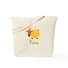 Renee The Capricorn Goat Tote Bag