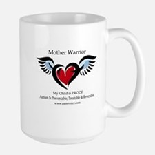 Mother Warrior. Autism is Treatable Large Mug